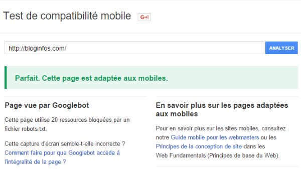 Google Mobile Check