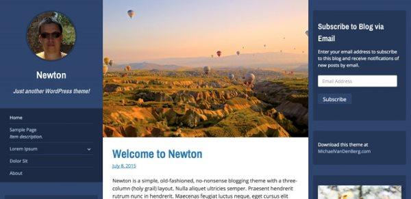 thèmes gratuits - Décembre 2015 - Newton