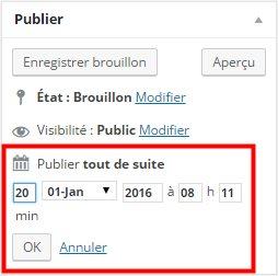 Comment planifier la publication d'un article - Planifier