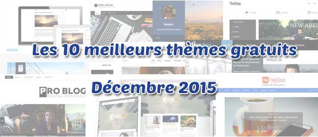 Sélection des 10 thèmes gratuits - Décembre 2015