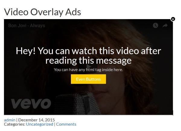 Video Overlay Ads