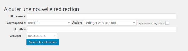 Redirection 301 - Ajouter une redirection