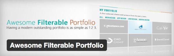 Les 8 meilleurs plugin de portfolio pour WordPress - Awesome Filterable Portfolio