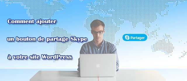 Comment ajouter un bouton de partage Skype dans WordPress