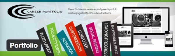 Les 8 mei1lleurs plugin de portfolio pour WordPress - Career Portfolio