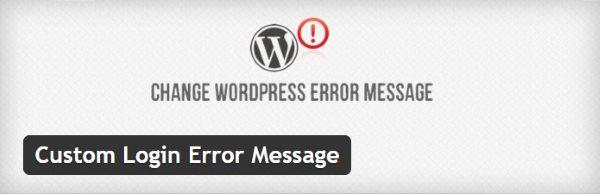 Custom Login Error Message