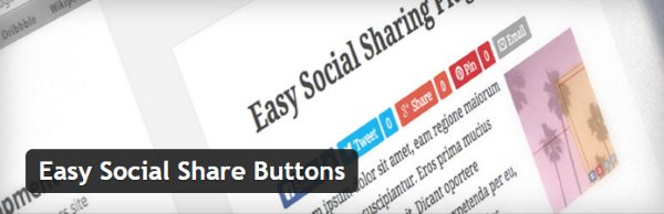 Partage social d'images - Easy Social Share Buttons