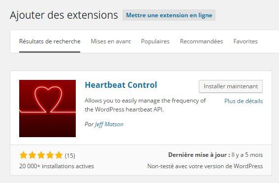 Installer plugin HeartBeat Control
