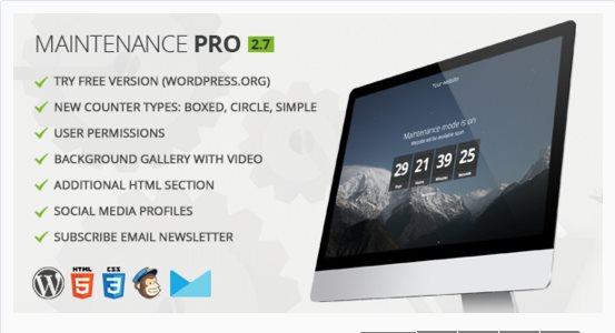 Passer WordPress en mode maintenance - Maintenance PRO