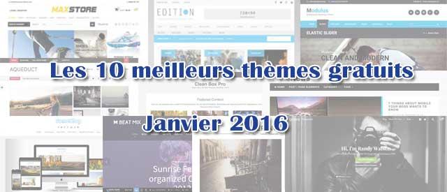 Les 10 meilleurs thèmes gratuits – Janvier 2016