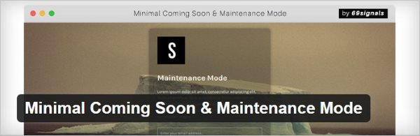 Minimal Coming Soon & Maintenance Mode