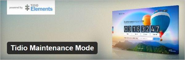 Tidio Maintenance Mode