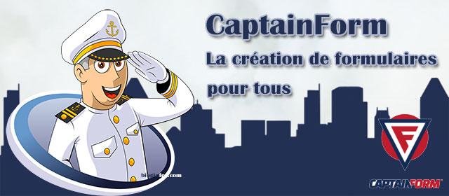 CaptainForm simplifie la création de formulaires