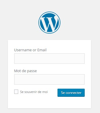 WordPress 4.5 - Login