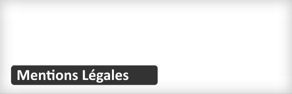 plugin gratuits WordPress - Mentions Légales