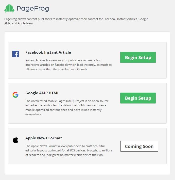Pagefrog Setup