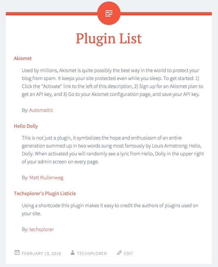 Techxplorers Page de plugin