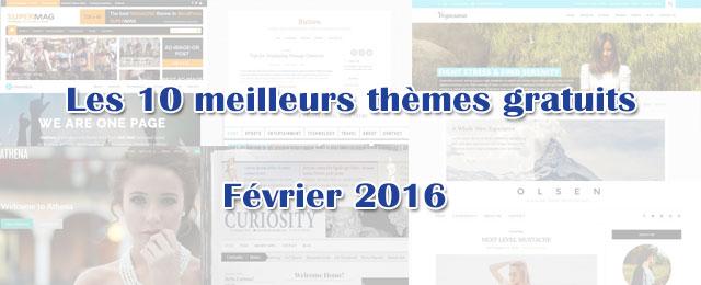10 plus beaux thèmes gratuits - Février 2016