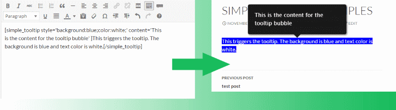 Exemple Simple Tooltip 2