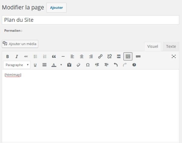 Plan de site HTML - Création d'une page Hierarchical HTML Sitemap