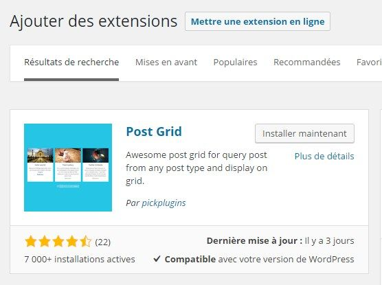 Affichez vos articles WordPress dans grille