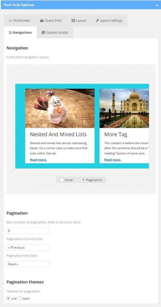 Affichez vos articles WordPress dans grille - Post Grid - Navigation