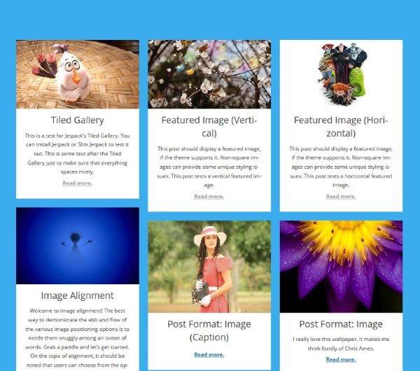 Afficher une grille de mise en page pour vos articles