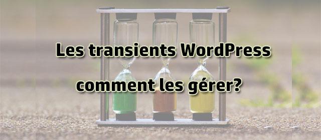 Comment gérer les transients WordPress