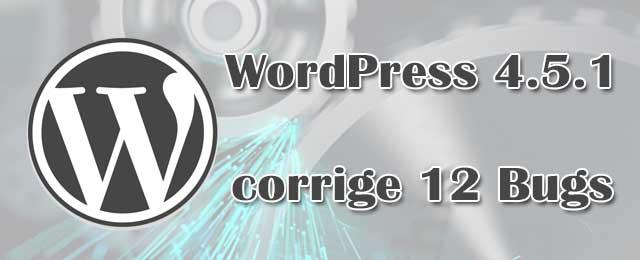 WordPress 4.5.1 - Mise à jour de Maintenance