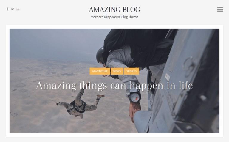 Les 10 plus beaux thèmes gratuits - Amazing Blog