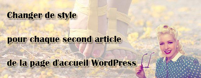 Changer de style pour la page d'accueil WordPress