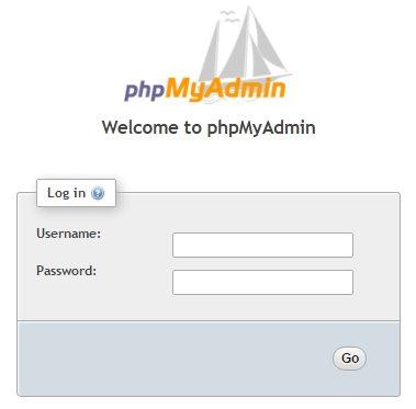 Connexion phpMyAdmin