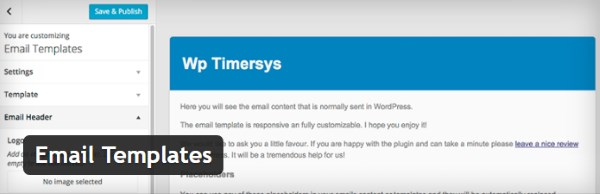 Comment personnaliser les emails WordPress - Email Templates