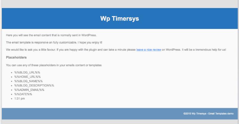 Email Templates - Modèle