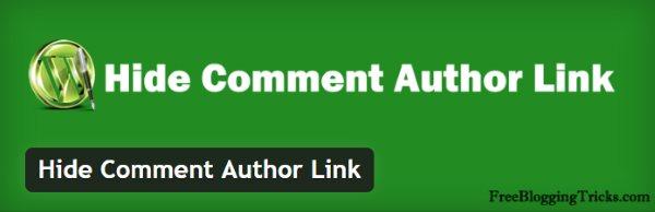 Lutter contre le spam avec Hide Comment Author Link