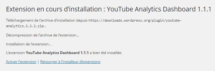 activer Youtube Analytics Dashboard