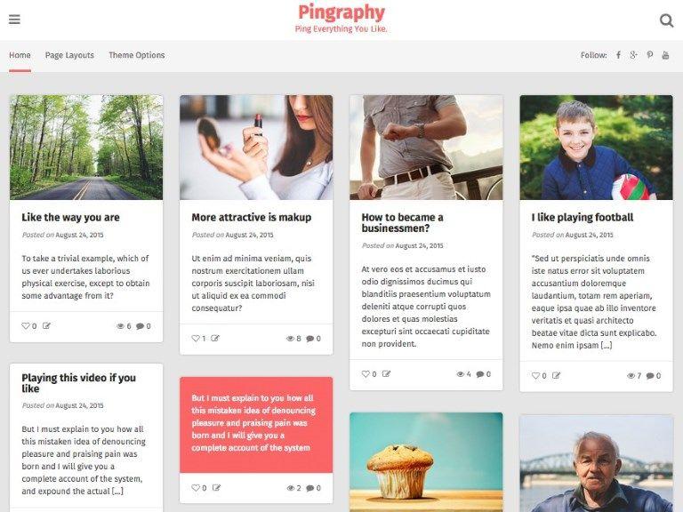 Les 10 plus beaux thèmes gratuits - Pingraphy