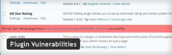 Plugin Vulnerabilities - Comment recevoir des notifications de vulnérabilité