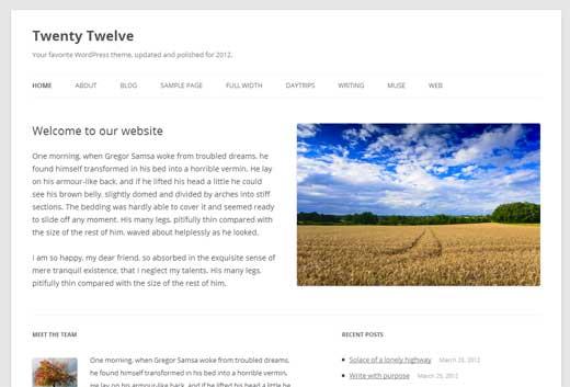WordPress 3.5 Theme Twenty Twelve