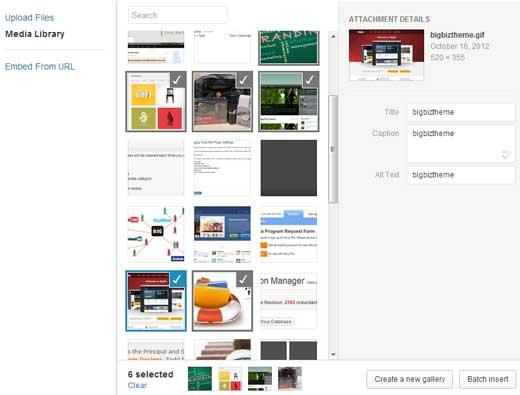 WordPress 3.5 Medial Light Box