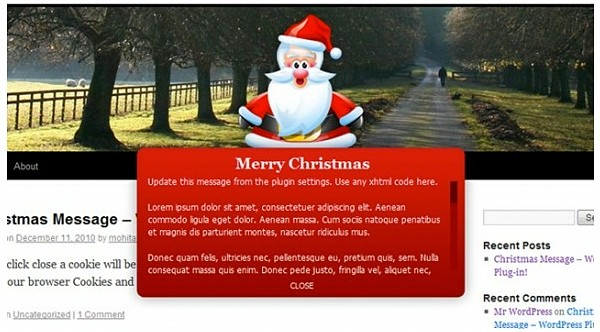 Christmas Message - Attirer l'attention de vos lecteurs
