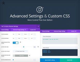 Paramètres avancés et CSS personnalisé