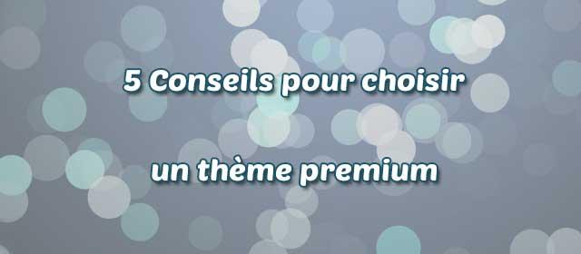 Choisir le thème premium de votre site WordPress