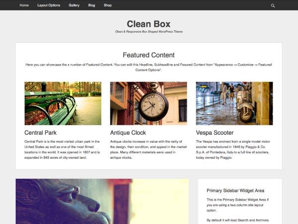 Thème Clean Box