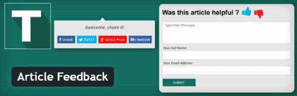 Obtenir des retours d'informations de vos lecteurs - Article Feedback