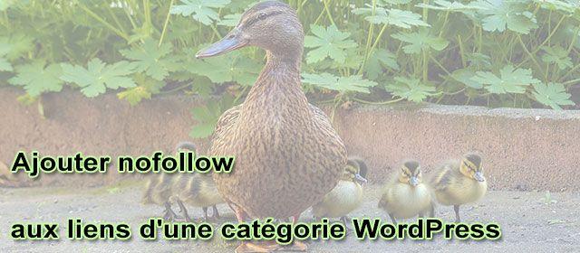 Ajouter nofollow aux liens d'une catégorie WordPress
