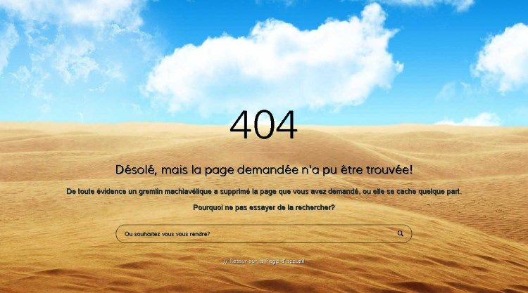 Forty Four - Page erreur 404