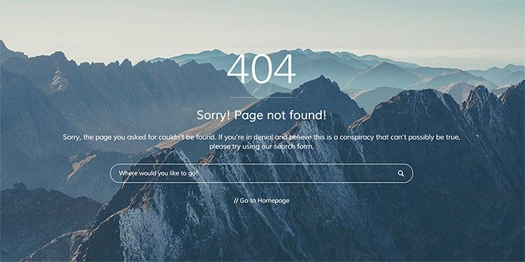 Page Erreur 404 - Fourty For