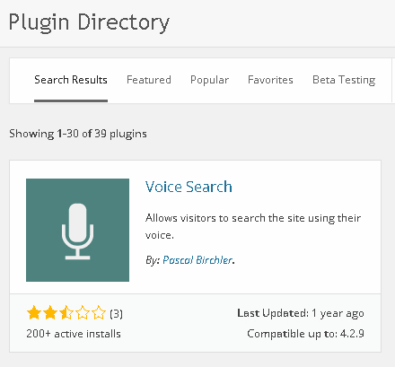 installer Voice Search