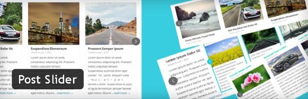 Post Slider - Plugin gratuits – Les meilleurs plugin parus en Juin 2016